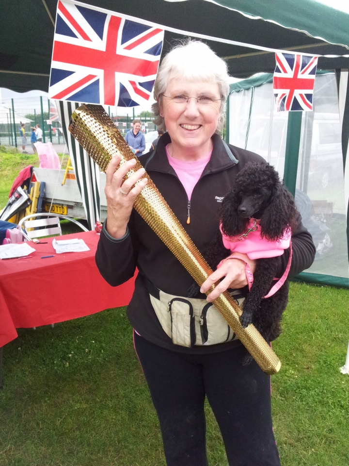 Martha, Pam & Olympic Torch